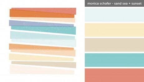 Art Inspired Palette: Monica Schafer-Sand Sea + Sunset