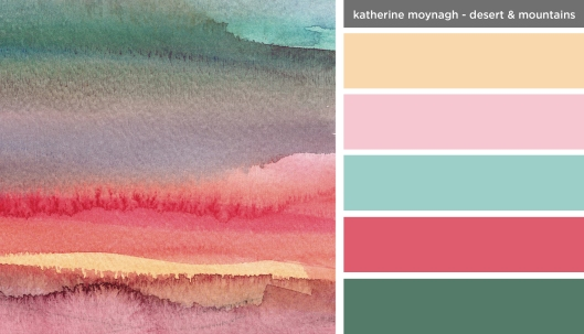 Art Inspired Palette: Katherine Moynagh-Desert and Mountains