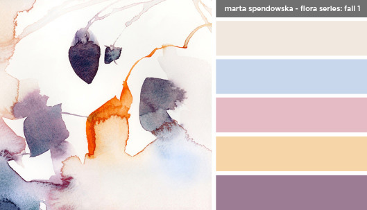 Art Inspired Palette: Marta Spendowska-Floral Series: Fall 1