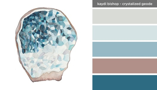 Art Inspired Palette: Kaydi Bishop-Crystalized Geode
