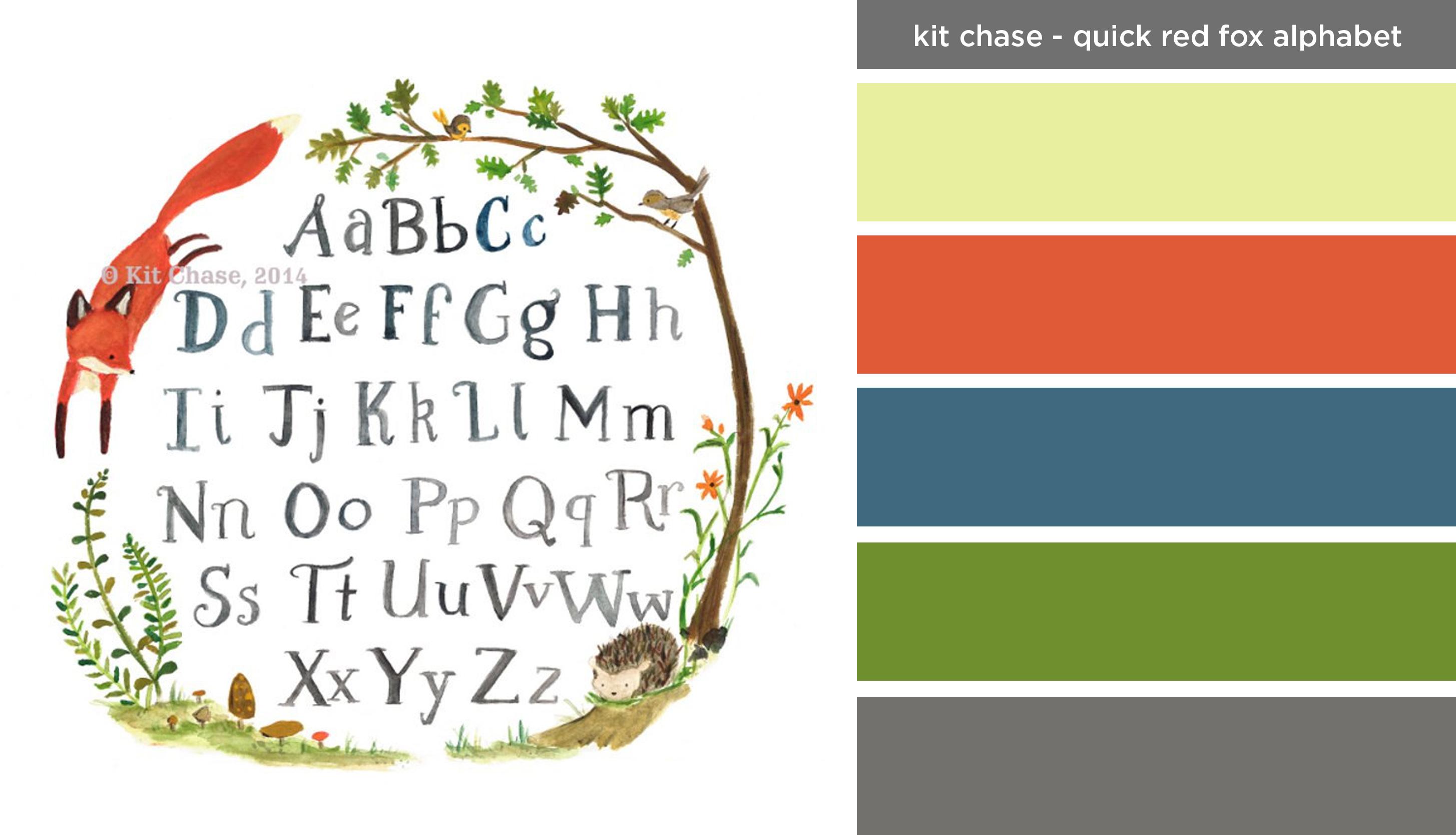 Art Inspired Palette: Kit Chase-Quick Red Fox Alphabet
