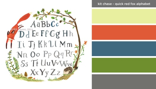 Art Inspired Palette: Kit Chase-Quick Red Fox Alphabet