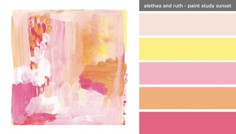 Art Inspired Palette: Alethea and Ruth-Paint Study Sunset