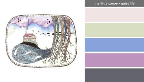 Art Inspired Palette: The Little Canoe-Quiet Life