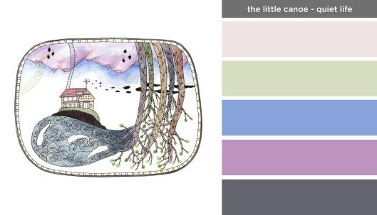 Art Inspired Palette: The Little Canoe-Quiet Life