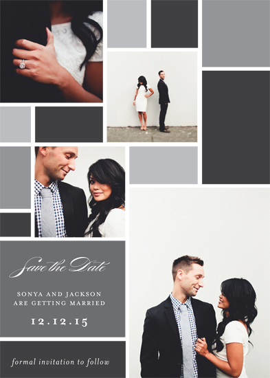 Minted Everlasting Love Save the Date Challenge - Modern Mosaic
