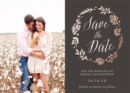 Minted Everlasting Love Save the Date Challenge - Rustic Modern Floral