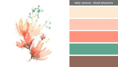 Art Inspired Palette: Kelly Ventura-Blush Blossoms