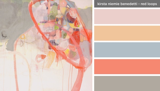 Art Inspired Palette: Kirsta Niemie Benedetti-Red Loops