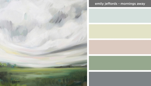 Art Inspired Palette: Emily Jeffords-Mornings Away