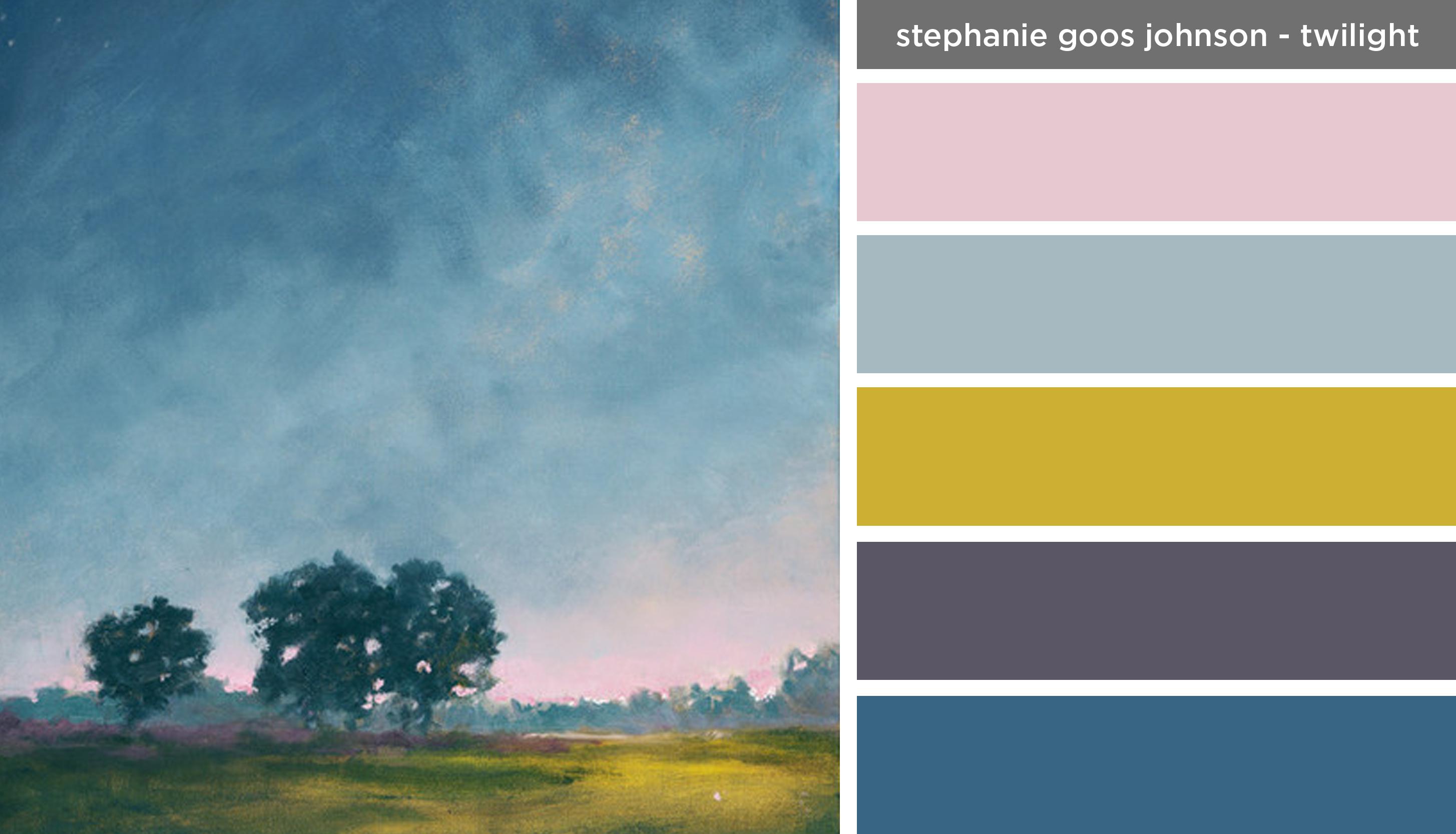 Art Inspired Palette: Stephanie Goos Johnson-Twilight