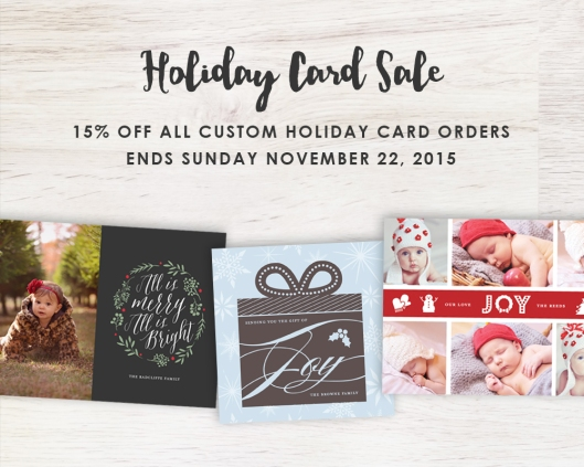 Custom Holiday Card Sale!