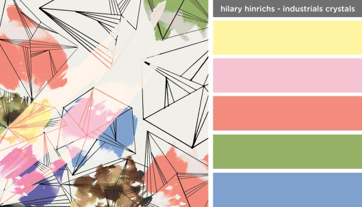 Art Inspired Palette: Hilary Hinrichs-Industrial Crystals