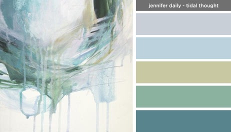 Art Inspired Palette: Jennifer Daily-Tidal Thought