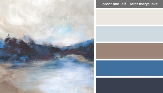 Art Inspired Palette: Lorent and Leif-Saint Marys Lake