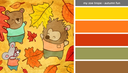 Art Inspired Palette: My Zoe Trope-Autumn Fun