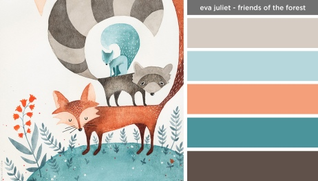 Art Inspired Palette: Eva Juliet-Friends of the Forest