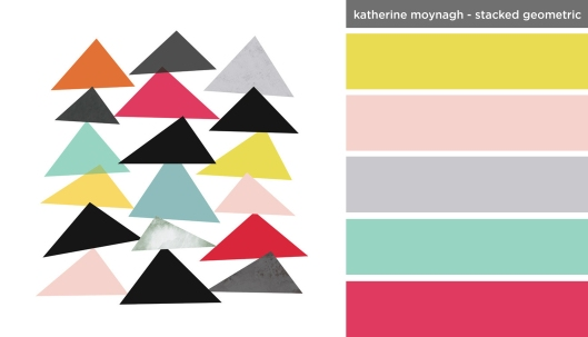 Art Inspired Palette: Katherine Moynagh-Stacked Geometric