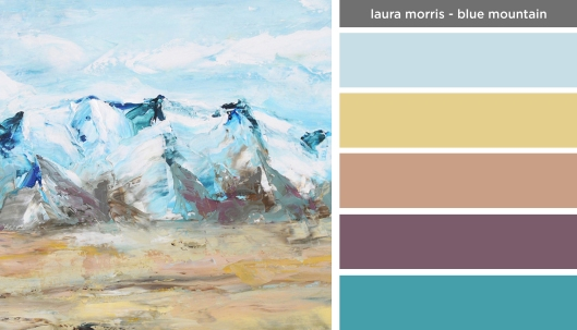 Art Inspired Palette: Laura Morris-Blue Mountain