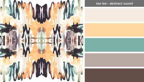 Art Inspired Palette: Tae Lee-Abstract Sound