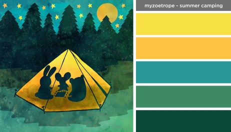 Art Inspired Palette: My Zoetrope-Summer Camping