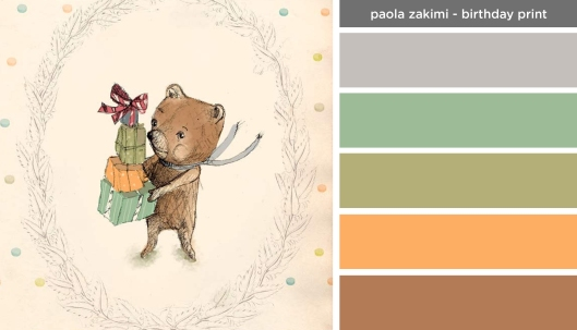 Art Inspired Palette: Paola Zakimi-Birthday Print