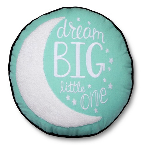 Dream Big Moon Throw Pillow