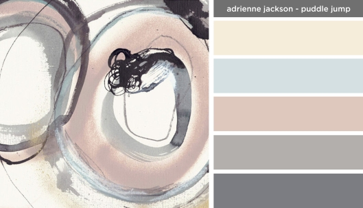 Art Inspired Palette: Adrienne Jackson-Puddle Jump