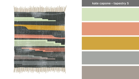 Art Inspired Palette: Kate Capone-Tapestry 5