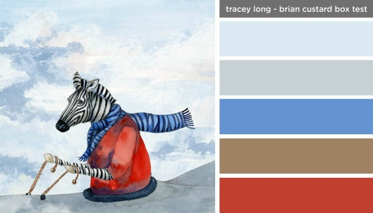 Art Inspired Palette: Tracey Long-Brian Custard Box Test