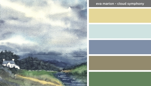 Art Inspired Palette: Eva Marion-Cloud Symphony