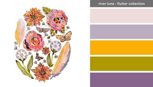 Art Inspired Palette: River Luna-Flutter Collection
