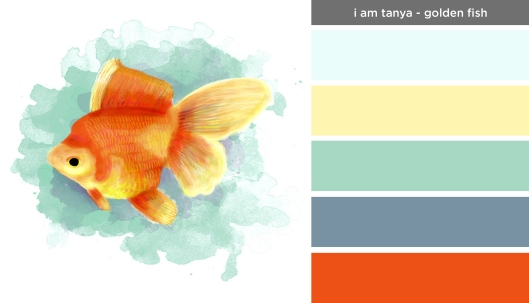 Art Inspired Palette: I am Tanya-Golden Fish